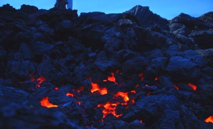 lava glow in the night